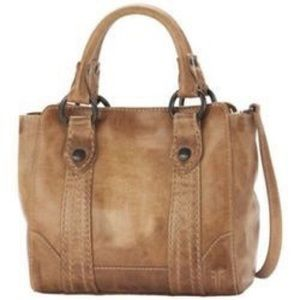 NWT Frye Melissa Mini Tote Satchel Beige Leather